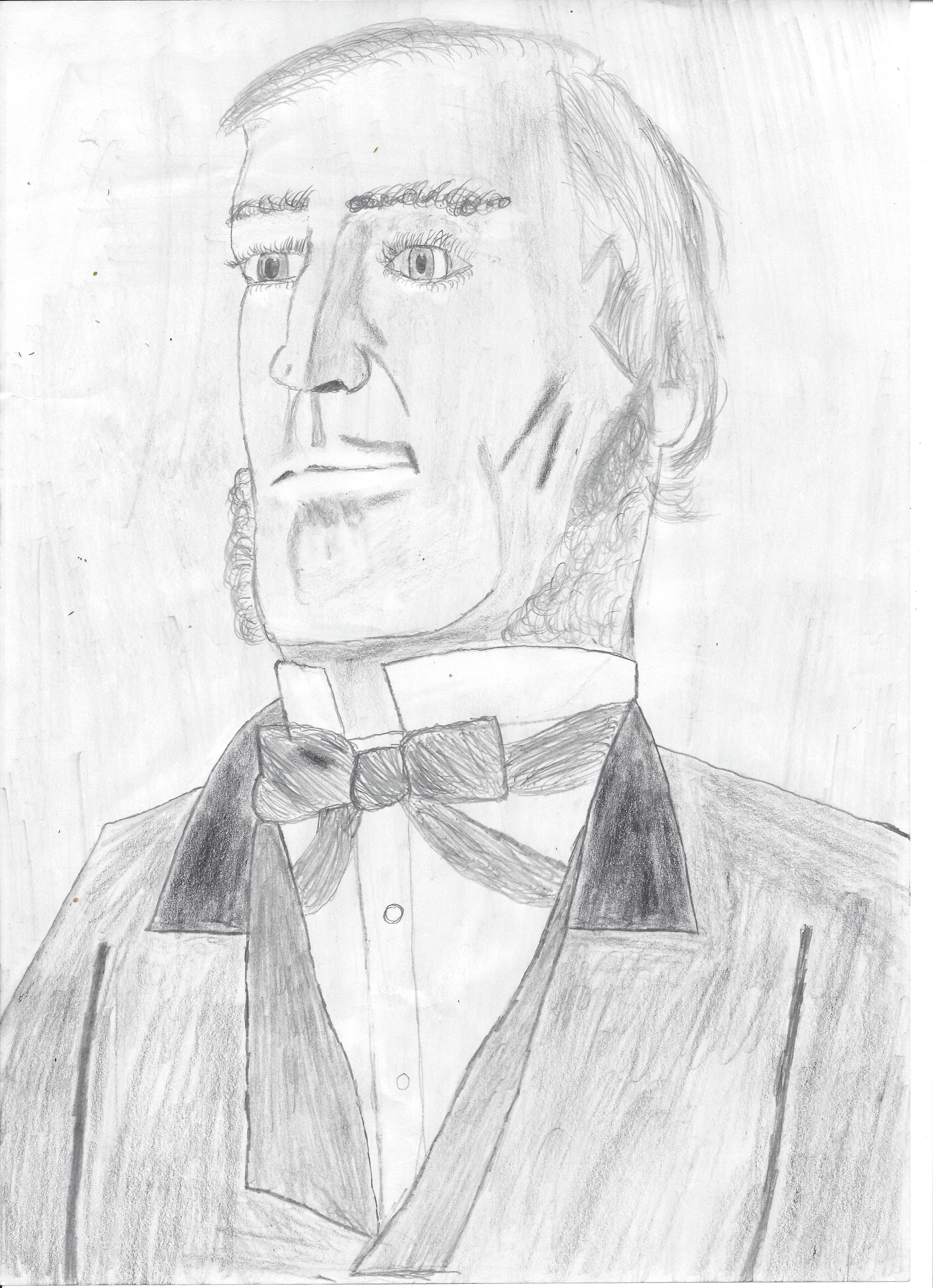 Pencil Sketch of George Boole